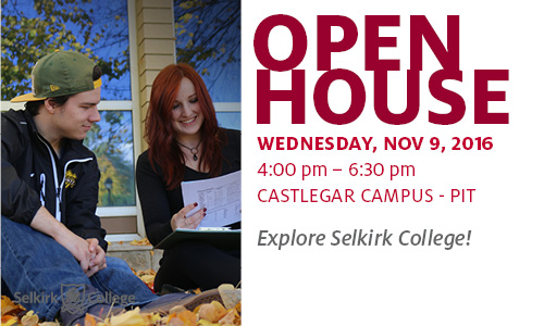 Come explore Selkirk College, we're opening our doors to the public. Check out the campus and discover the career opportunities that are available to you!