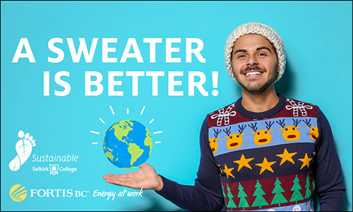 Sweater Day Selkirk College Sustainability