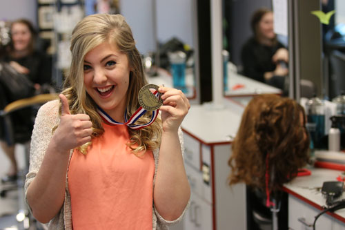 Hairdressing student wins gold
