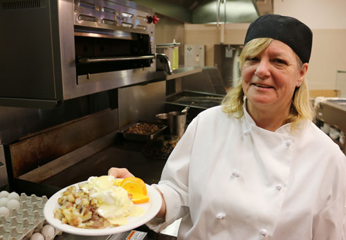Cooking program offers new menu item - eggs benny