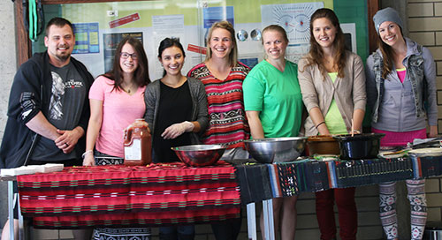 Fundraising for the Selkirk College Nursing Program's practicum in Guatemala continued on the Castlegar campus earlier this month as students sold burritos, a traditional food of the country that welcomes them this week.