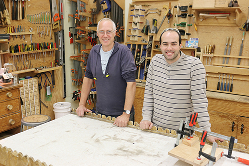 David Ringheim and David Stryck are the new instructors of the Fine Woodworking Program at Selkirk College.