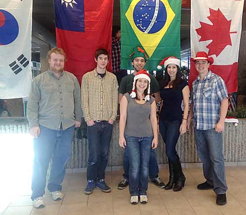 Selkirk College Venture Club getting ready for Christmas Party
