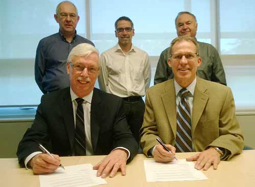 Signing of MOU with BCIT featuring VP Neil Coburn.