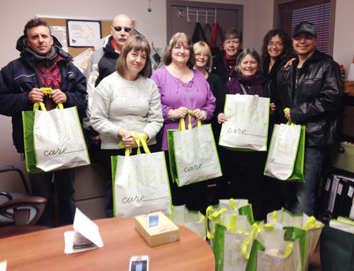 Social service workers raise money and items for Trail shelter