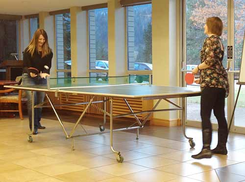 Ping pong from staff social